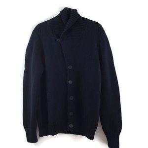 Prada Navy Blue Button Down Cardigan Sweater  56